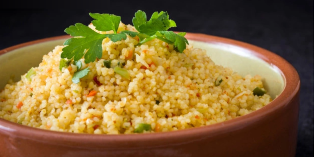 GreenLentil, spinach &  chickpea dhal & cous cous